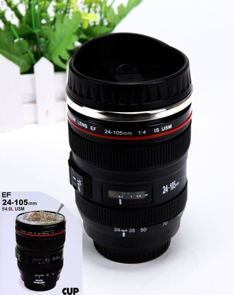 Camera Lens Thermos 12 Photographer Jewelry