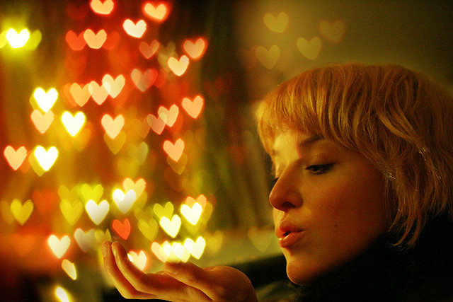 Beautiful Heart Bokeh Photographs