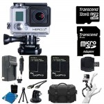 GoPro HERO3+ Silver Edition Camera HD Camcorder Bundle