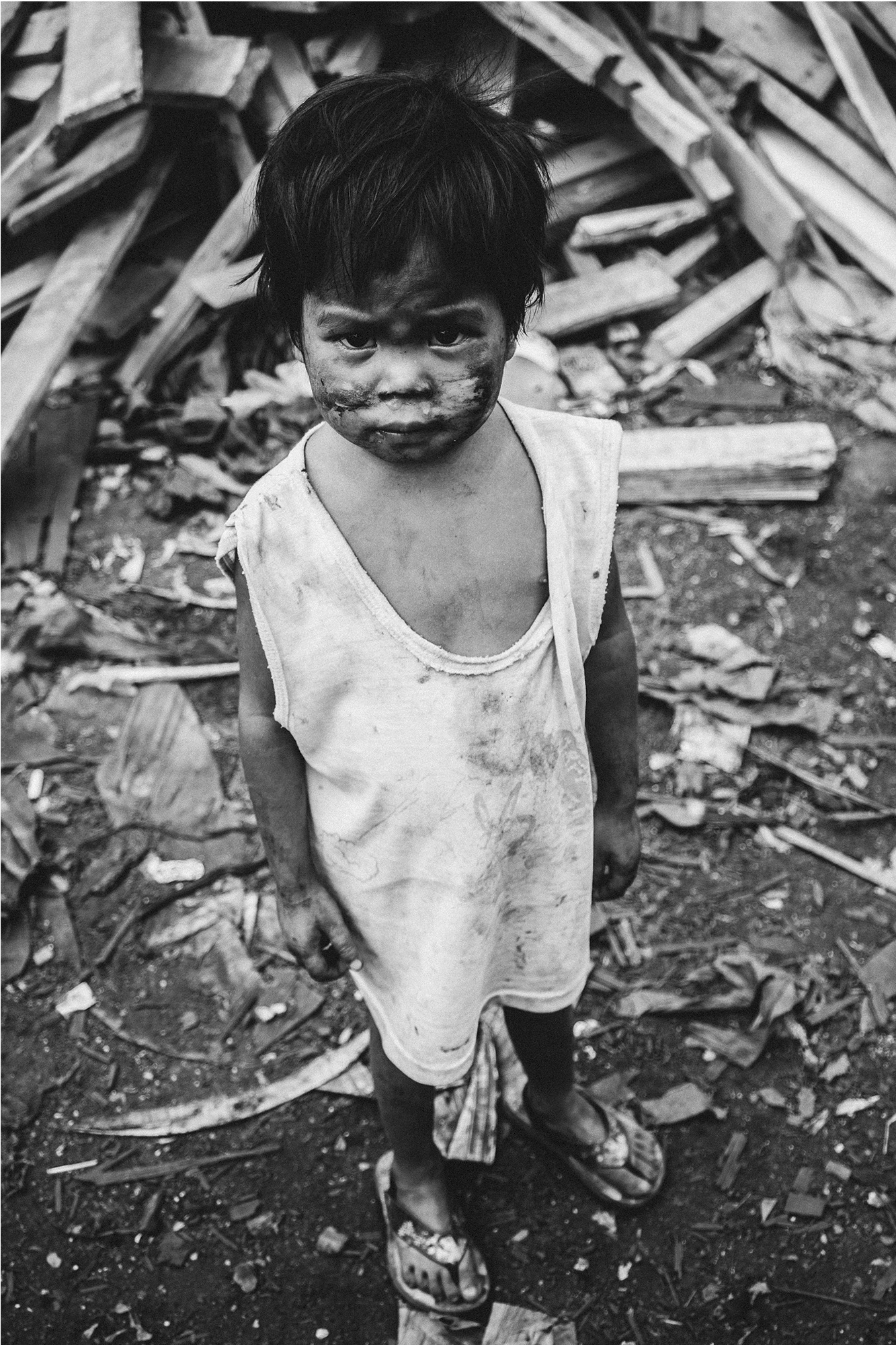 Small Child living in Ulingan, Manila