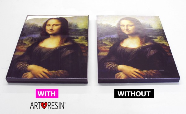 with and without before and after artresin epoxy resin