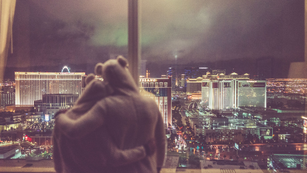 View from the 50th floor of Trump Hotel, Las Vegas, in Pajamas (2) - © Ofer Rozenman