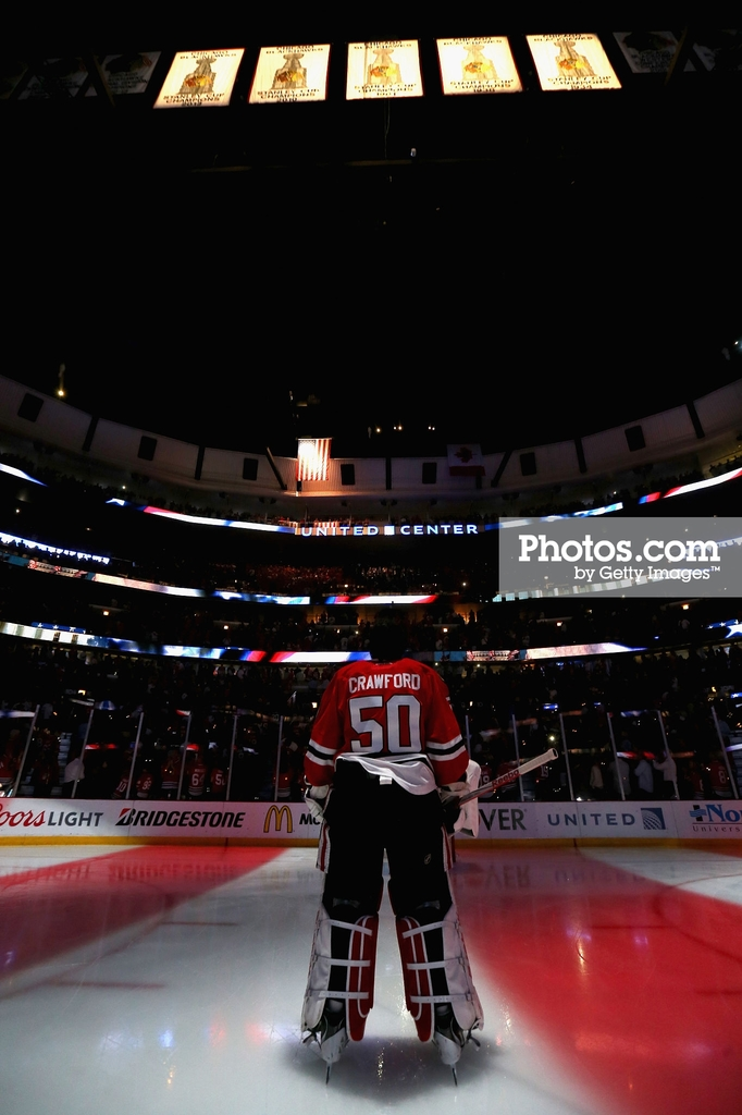 Game Four of the 2015 NHL Stanley Cup Final at the United Center on June 10, 2015 in Chicago, Illinois.